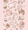 holiday seamless pattern with ginger cookies vector image vector image