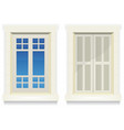 home window - awake and asleep vector image