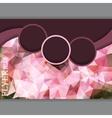 Horizontal presentation of business flyer vector image vector image