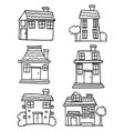 house set hand draw vector image vector image