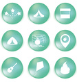 Icon set for holidays relax travel weekend in vector image
