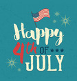 independence day usa design poster vector image vector image