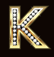 k bling vector image vector image
