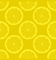 lemon slices on yellow background seamless pattern vector image vector image
