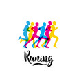 logo sports running vector image