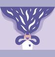 man depressed bad depressed state mind vector image