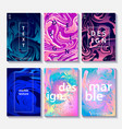 marble template set of 6 creative design posters vector image