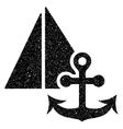 Marine Grainy Texture Icon vector image