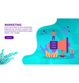 marketing concept with character template for vector image