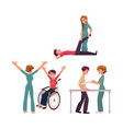 medical rehabilitation physical therapy vector image vector image