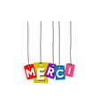 merci greeting card vector image vector image