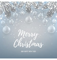 Merry Christmas backdrop with glass toys vector image