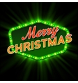 Merry Christmas Lights Frames vector image