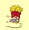 monster french fries vector image vector image