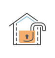 open lock icon flat and line modern vector image vector image