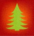 Polygon style holiday fir tree Mosaic inlay vector image
