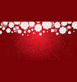 red new years christmas background with white vector image vector image