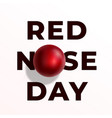 red nose day abstract sign emblem or card vector image