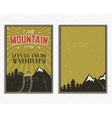 Retro summer or winter holiday posters Travel and vector image vector image