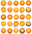 Round orange download icons vector image vector image