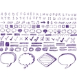set hand-drawn isolated highlighter elements vector image vector image