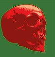 skull image red green vector image vector image