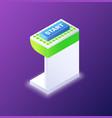 smart technology button startup platform vector image vector image