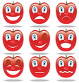 smiley face of tomato vector image vector image