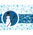 snowman card vector image vector image