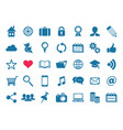 social media and website icons vector image vector image