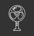 stand floor fan chalk icon vector image vector image