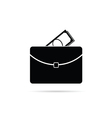 suitcase with money black vector image vector image