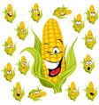sweet corn cartoon vector image vector image