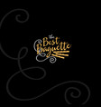 the best baguette logo vector image vector image