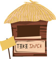 tiki shack vector image