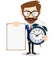 time management control vector image