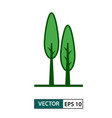 tree icon green colour style eps 10 vector image vector image