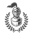 vintage armored knight emblem vector image