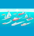 water transport collection vector image vector image