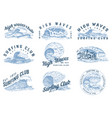 wave labels logos set of atlantic tide templates vector image