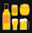 beer icon line cartoon vector image