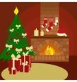 Christmas still life cartoon vector image