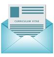 Curriculum vitae opened envelope concept vector image