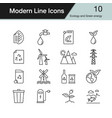 ecology and green energy icons vector image