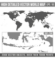 high detailed world map vector image