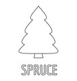 spruce icon outline style vector image