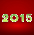 2015 New Year image on red background with white vector image