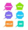 a collection speech message bubbles vector image vector image