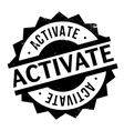 Activate rubber stamp vector image vector image