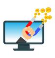 attraction of money vector image